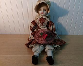 Vintage 1970's Porcelain Doll