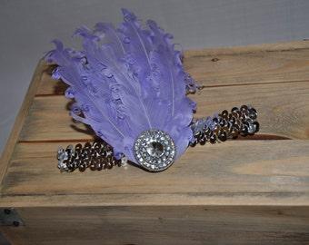 Curly feather baby headband
