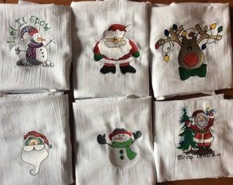 Christmas Flour Sack Towels
