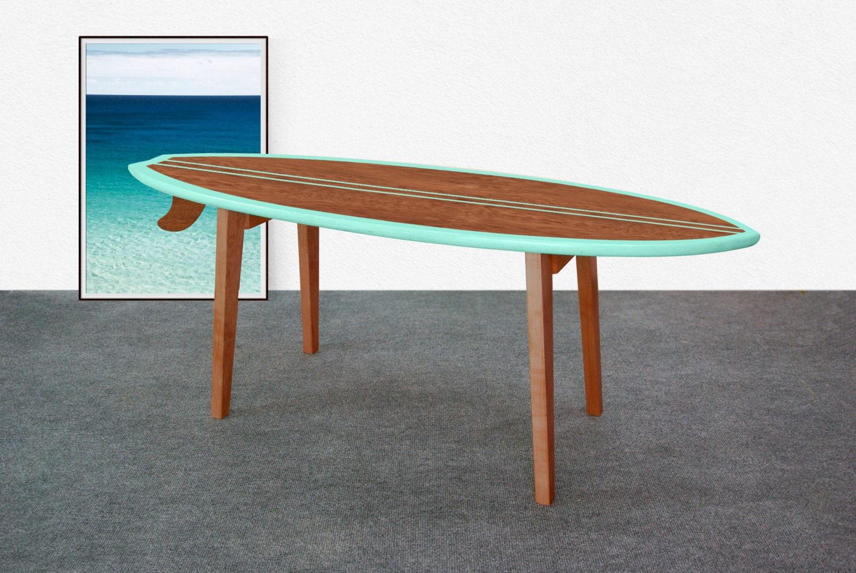Mesa de caf tabla de surf mesa tabla de surf por - Cabecero de tablas ...