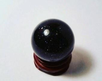 Blue Goldstone Sphere