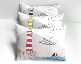 Lighthouse Cushion, Lighthouse Throw Pillow, Lighthouse Pillow, Decorative Cushion, Decorative Pillow