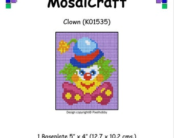 MosaiCraft Pixel Craft Mosaic Art Kit 'Clown' (Like Mini Mosaic and Paint by Numbers)