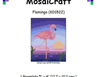 MosaiCraft Pixel Craft Mosaic Art Kit 'Flamingo' (Like Mini Mosaic and Paint by Numbers)
