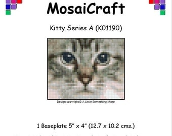 MosaiCraft Pixel Craft Mosaic Art Kit 'Kitty Series A' (Like Mini Mosaic and Paint by Numbers)