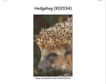 MosaiCraft Pixel Craft Mosaic Art Kit 'Hedgehog' (Like Mini Mosaic and Paint by Numbers)