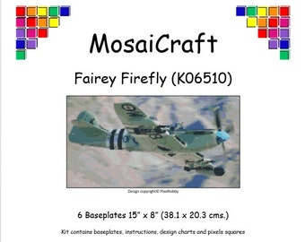 MosaiCraft Pixel Craft Mosaic Art Kit 'Fairey Firefly' (Like Mini Mosaic and Paint by Numbers)