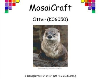 MosaiCraft Pixel Craft Mosaic Art Kit 'Otter' (Like Mini Mosaic and Paint by Numbers)
