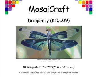 MosaiCraft Pixel Craft Mosaic Art Kit 'Dragonfly' (Like Mini Mosaic and aint by Numbers)