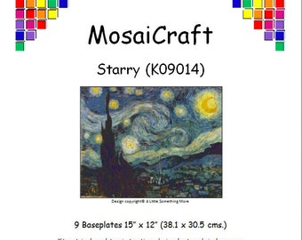 MosaiCraft Pixel Craft Mosaic Art Kit 'Starry' (Like Mini Mosaic and Paint by Numbers)