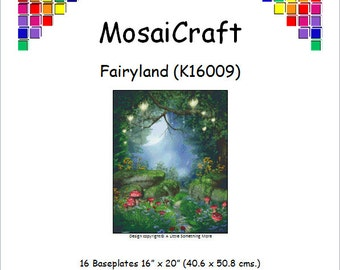 MosaiCraft Pixel Craft Mosaic Art Kit 'Fairyland' (Like Mini Mosaic and Paint by Numbers)