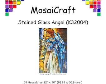 MosaiCraft Pixel Craft Mosaic Art Kit 'Stained Glass Angel' (Like Mini Mosaic and Paint by Numbers)