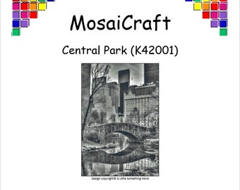 MosaiCraft Pixel Craft Mosaic Art Kit 'Central Park' (Like Mini Mosaic and Paint by Numbers)