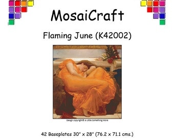 MosaiCraft Pixel Craft Mosaic Art Kit 'Flaming June' (Like Mini Mosaic and Paint by Numbers)