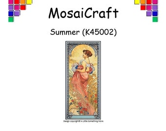 MosaiCraft Pixel Craft Mosaic Art Kit 'Summer' (Like Mini Mosaic and Paint by Numbers)