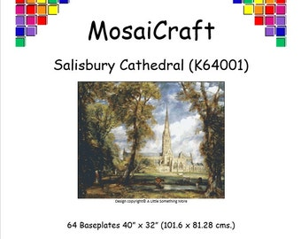 MosaiCraft Pixel Craft Mosaic Art Kit 'Salisbury Cathedral' (Like Mini Mosaic and Paint by Numbers)