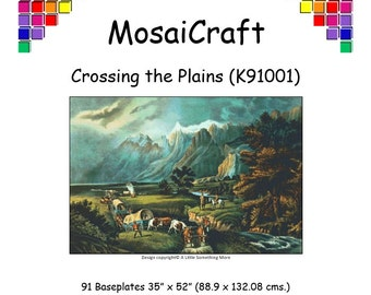 MosaiCraft Pixel Craft Mosaic Art Kit - 'Crossing The Plains' (Like Mini Mosaic and Paint by Numbers)