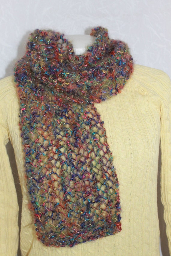 Knit Scarf in beautiful multi-colors