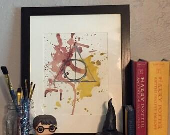 Deathly Hallows Watercolor