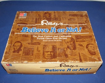 RIPLEY'S Believe It or Not Board Game by Milton Bradley 1984