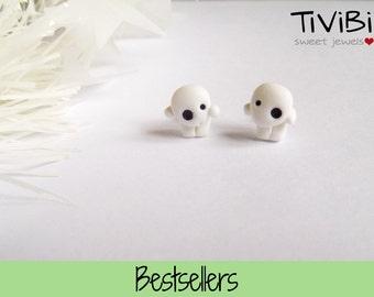 Kodama post earrings