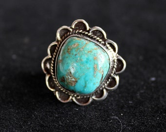 Vintage Leadville  Turquoise  ring. FREE SHIPPING