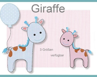 Giraffe Alvin Doodle 4 x 4 5 x 7 6 x 10 embroidery file embroidery pattern 3 pattern