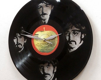 The Beatles I Wall Art -Vinyl LP Record Clock or Framed -Great Rock'n'Roll Gift