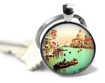 Venice keychain Venice Italy key ring vintage world travel gift Venice wedding favors key chain.