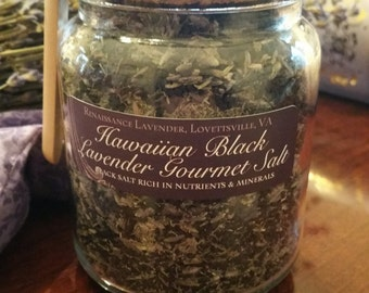 Hawaiian Black Lavender Gourmet Salt