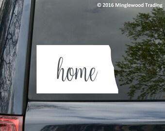 "North Dakota State vinyl decal sticker 6"" x 3.5"" Home ND *Free Shipping*"