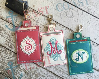 CARD SNAP KEYFOB machine embroidery design