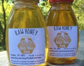 Spring & Fall Raw Honey Sampler (Two 8 ounce bottles)