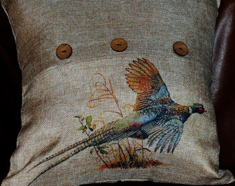 """Pheasant Pillow Cover, 16"""" FREE SHIPPING"""