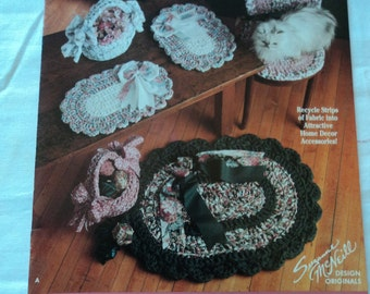 Rag Crochet Baskets and Rugs Suzanne McNeill Design Originals No. 2238