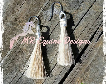 Horse Hair Tassel Earrings