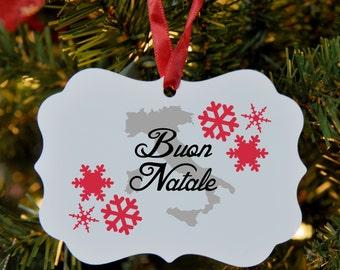 Italian Merry Christmas Ornament, Italy, Buon Natale