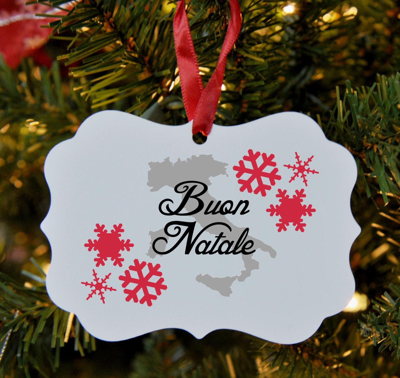 Italian Merry Christmas Ornament Italy Buon Natale