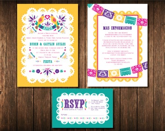 Mexican Wedding Invitation Set - DIGITAL