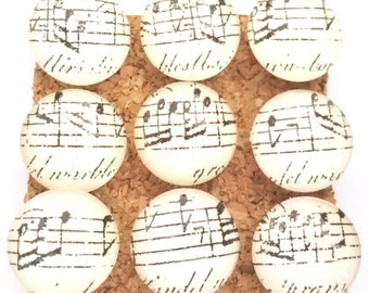 Sheet Music Push Pins, Music Push Pins, Decorative Push Pins, Glass Push Pins, Music Notes Push Pins, Music Thumb Tacks, Musical Push Pins
