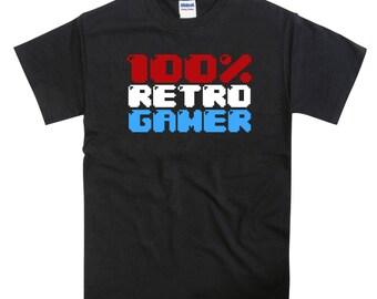RETRO GAMER 8 Bit Spectrum ZX Sinclair C64 Amiga Inspired Tshirt