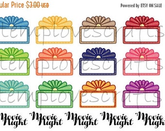 Glam Movie Night Marquee Stickers For your planner or for Scrapbooking.