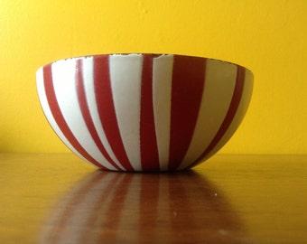 Vintage Red Stripe Catherineholm Catherine Holm Enamelware Bowl