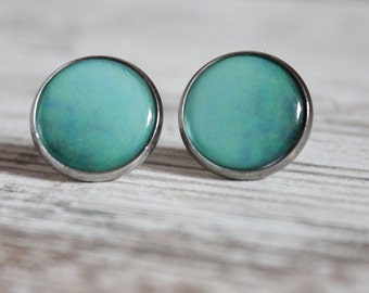 "EARRINGS ""Turquoise"" 16 mm * self designed theme *."