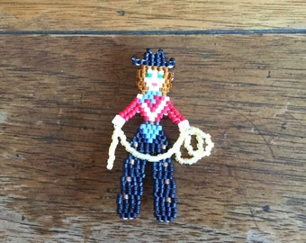 Giddyap Y'all! Little Beaded Cowgirl