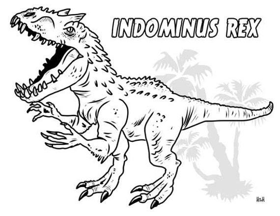 Indominus Rex Printable Coloring Page by GalleryofGiggles ...
