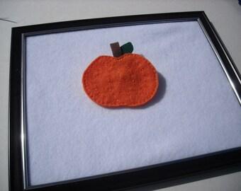Pumpkin Felt Brooch