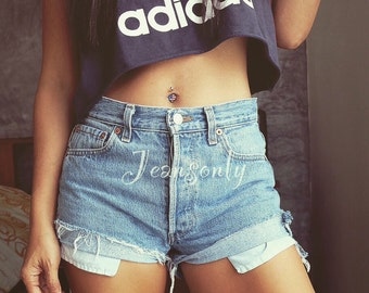 Levi High waisted shorts Hipster Festival clothing