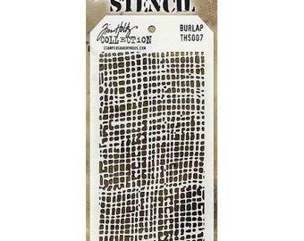 Tim Holtz Stencil - BURLAP THS007 - cc5x SS052