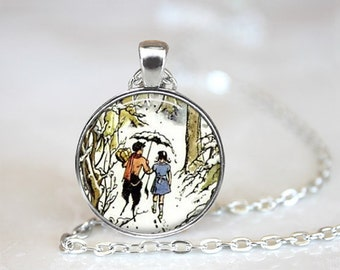 narnia picture pendant necklace lion